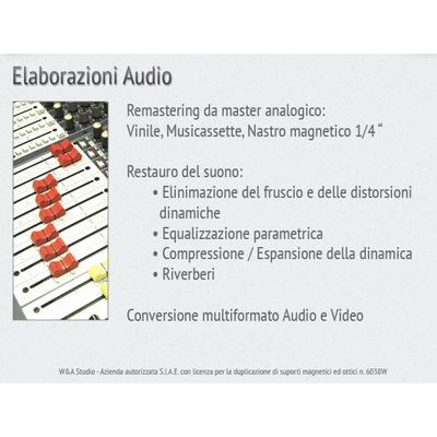 W. & A. STUDIO s.a.s. - Registrazione sonora - sale prova Torino