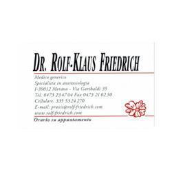 Friedrich Dr. Rolf Klaus - Medici specialisti - varie patologie Merano