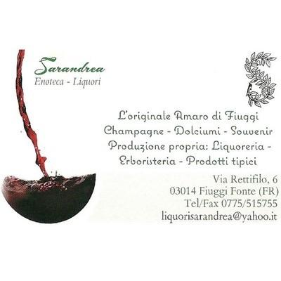 Liquori Sarandrea - Dolciumi - produzione Fiuggi