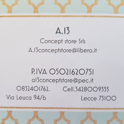 A.13 Concept Store - Parrucchieri per donna Lecce