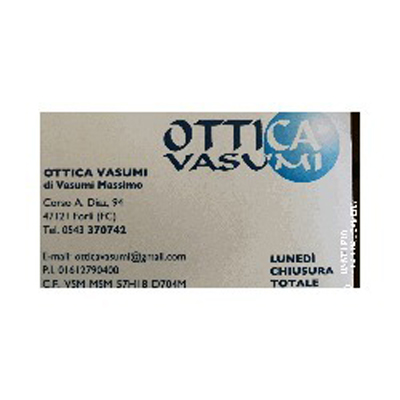 Ottica Vasumi  Massimo Vasumi - Ottica, lenti a contatto ed occhiali - vendita al dettaglio Forlì