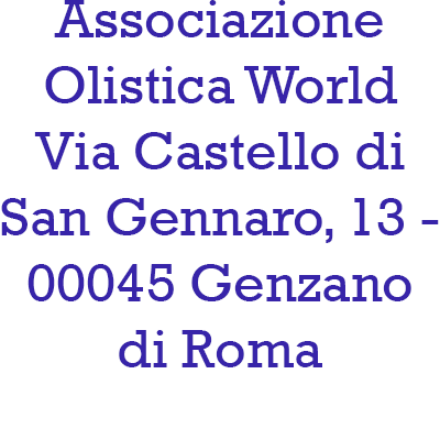 Associazione Olistica World - Istituti di bellezza Genzano di Roma
